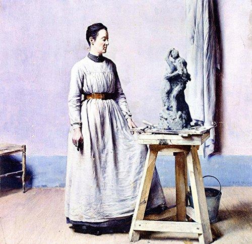 Femme Sculpteur portrait William Blair Bruce