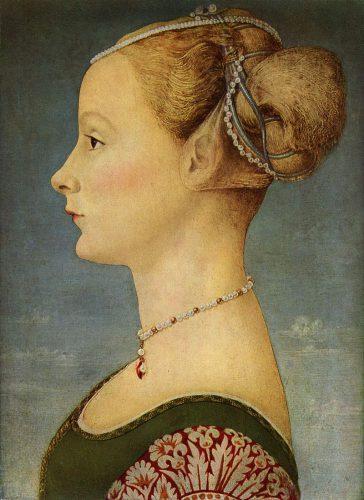 Antonio del Pollaiolo, Portrait de jeune femme (1470-1472)